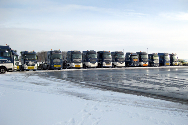 Part of our transport fleet